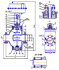Рисунок 1 – Клапан регулирующий исполнения НО с МИМ, сальниковая набивка из материала «Графлекс»