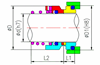 Roten Type Uniten 2 O-ring Mechanical Seal