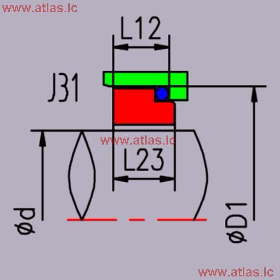 EagleBurgmann Type C15(443), AES Type C15(443), Roten Type C15(443)
